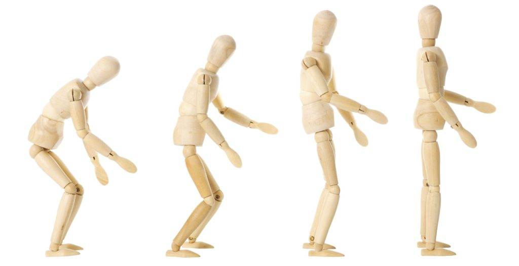 Posture-Bruch Takedown Holzmännchen modell