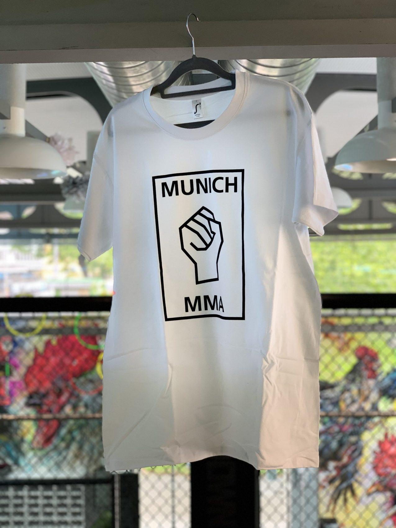Munich MMA Team T-Shirt weiss mit Logo