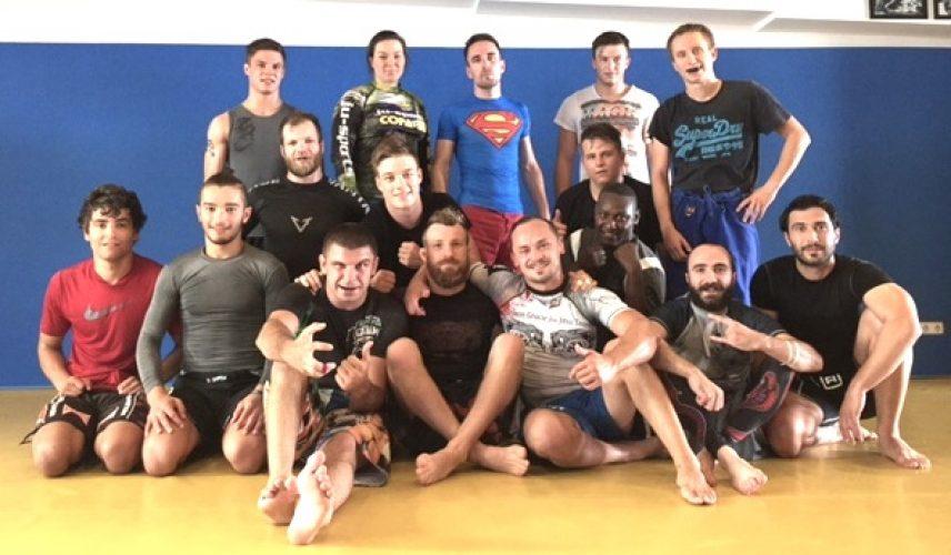 Nogi MMA Seminar Alexander Neufang Roman Kapranov Gruppenbild